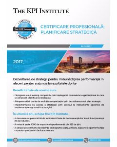 Certificare Profesionala: Planificare Strategica în Afaceri, 18 - 20 Octombrie in Bucuresti
