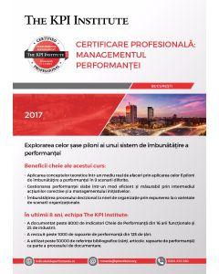 Certificare Profesională: Managementul Performanței, 6-8 Decembrie in Bucuresti
