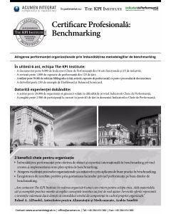 Certificare Profesionala: Benchmarking