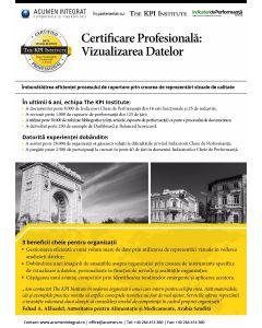 Certificare Profesionala: Vizualizarea Datelor