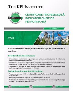Certificare Profesionala: Indicatori Cheie de Performanta, 12 - 14 Noiembrie in Cluj