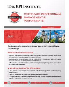Certificare Profesională: Managementul Performanței, 13-15 Decembrie in Cluj