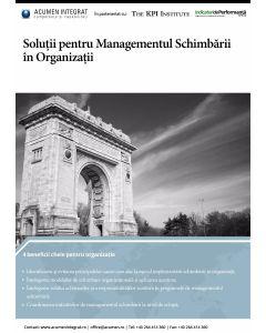 Solutii pentru Managementul Schimbarii in Organizatii