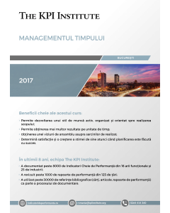 Managementul Timpului, 27-28 Octombrie, Bucuresti