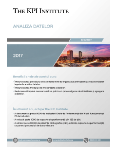 Analiza Datelor, 16-17 Noiembrie, Bucuresti