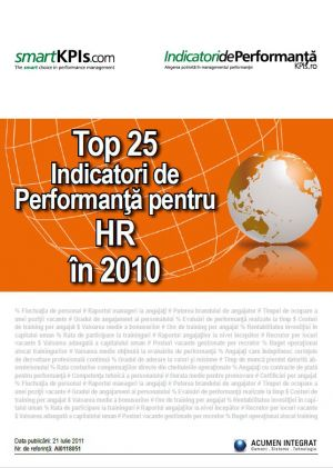 Top 25 Indicatori de Performanta pentru HR in 2010