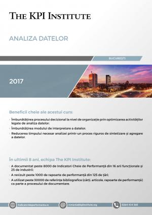 Analiza Datelor, 17-18 Noiembrie, Bucuresti