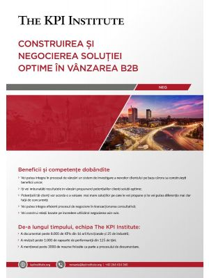 Construirea si negocierea solutiei optime in vanzarea B2B 22 - 24 Noiembrie Bucuresti