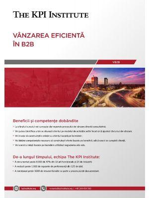 Vanzarea eficienta in B2B 26 - 27 Octombrie Bucuresti