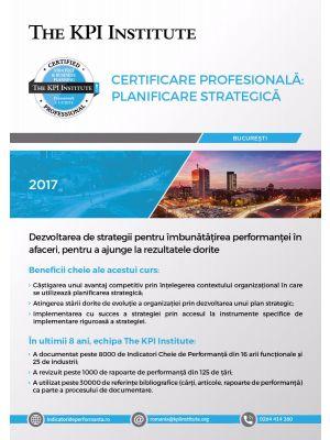 Certificare Profesionala: Planificare Strategica în Afaceri, 24 - 26 Ianuarie 2019 in Bucuresti