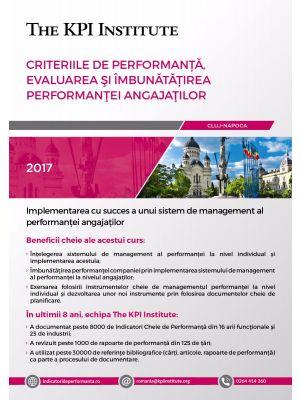 Criteriile de Performanta, Evaluarea si Imbunatatirea Performantei Angajatilor, 18-20 Ianuarie, Cluj