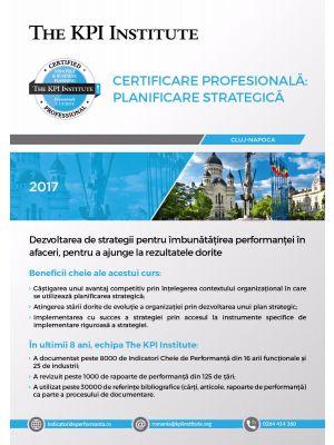 Certificare Profesionala: Planificare Strategica în Afaceri, 25-27 Octombrie in Cluj