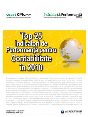 Top 25 Indicatori de Performanta pentru Contabilitate in 2010