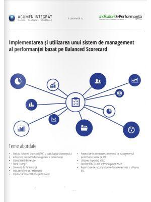 Implementarea și utilizarea unui sistem de management al performanței bazat pe Balanced Scorecard