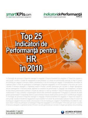 Top 25 Indicatori de Performanta pentru HR in 2010