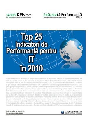 Top 25 Indicatori de Performanta pentru IT in 2010