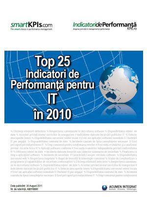 Top 25 Indicatori de Performanta pentru IT in 2010