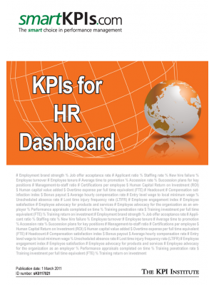 Exemple KPI pentru HR Dashboard