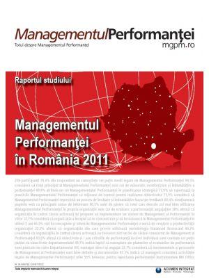 Raportul studiului Managementul Performantei in Romania 2011