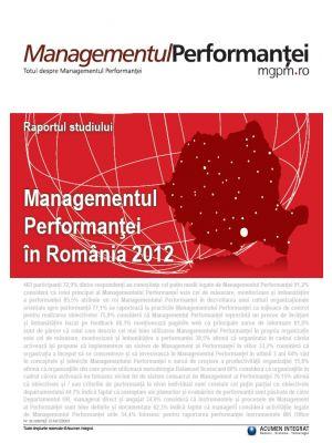 Raportul studiului Managementul Performantei in Romania 2012