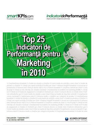 Top 25 Indicatori de Performanta pentru Marketing in 2010