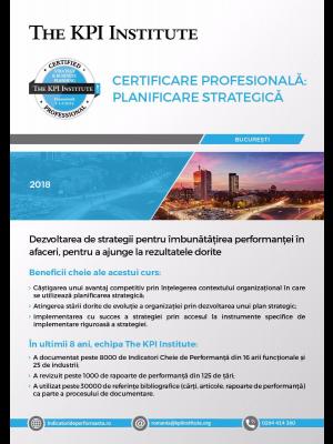 Certificare Profesionala: Planificare Strategica în Afaceri, 8 - 10 Februarie 2019 in Bucuresti