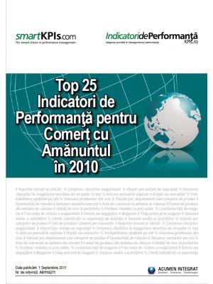 Top 25 Indicatori de Performanta pentru Comert cu Amanuntul in 2010